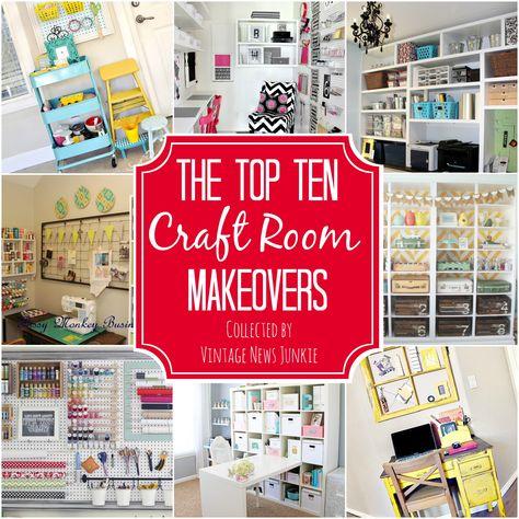 Top Ten Craft Room Makeovers {Organization & Inspiration}