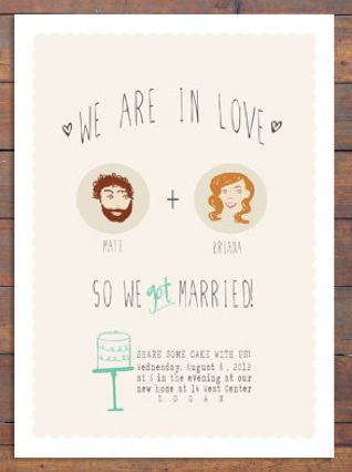Just When You Were About to Give Up Hope on Affordable Letterpress - invitation wording for elopement party