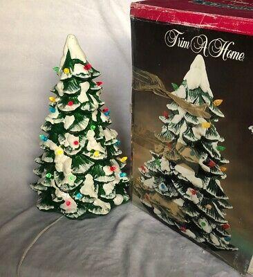 Vintage Trim A Home Premium Illuminated Porcelain Christmas Tree Ebay Christmas Tree Toppers Christmas Tree Decorations Christmas Tree