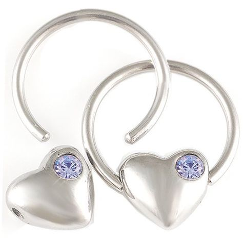 Green Dangle Heart Nipple Ring-Steel Captive Ring-12g-5//8-16mm BodySparkle Body Jewelry Lt