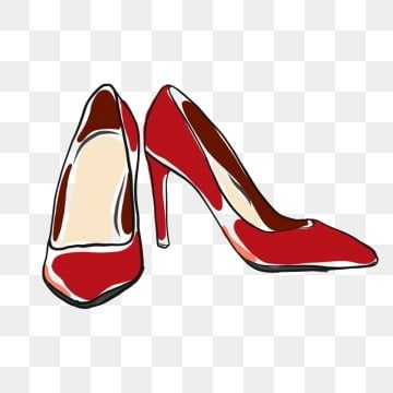 Red High Heels Doodle Vector High Heel Clipart Fashion Illustration Png And Vector With Transparent Background For Free Download Red High Heels Heels Blue High Heel Shoes