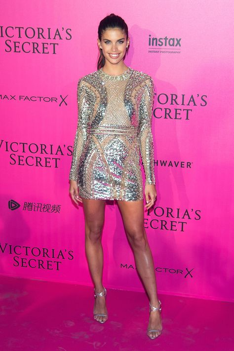 Sara Sampaio in Zuhair Murad Dress Victoria's Secret 2016 Fashion Show After Party in Paris - November 2016