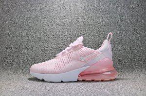 Nike Air Max 270 Flyknit Pink White AH8050 600 Women's Running Shoes AH8050 600