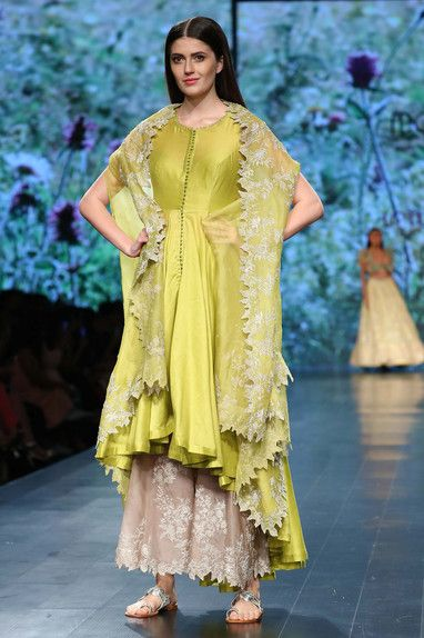 Shop Anushree Reddy Kurta With Pants & Embroidered Cape , Exclusive Indian Designer Latest Collections Available at Aza Fashions