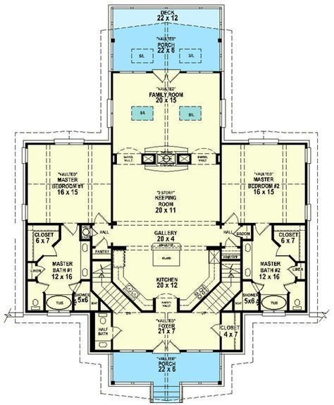 Double Master Bedroom House Plan Awesome Dual Master Suites Master Suite Floor Plan Bedroom Floor Plans Bedroom House Plans