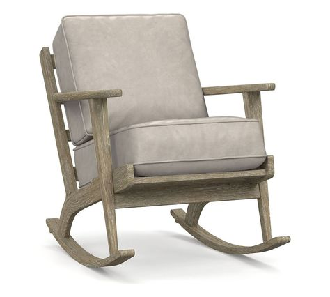 Raylan Leather Rocking Chair | Rocking chair, Upholstered