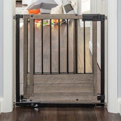 Summer Infant Rustic Home Sliding Baby Gate Bronze Wood Brown Baby Gates Rustic House Barn Door Designs