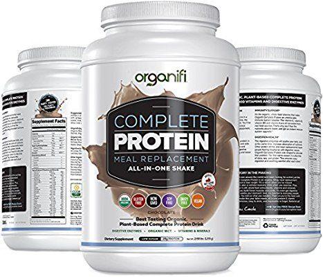 Amazon Com Vegan Protein Powder Organifi Complete Protein Organic Plant Based Protein Drink Soy Dairy And Gluten Free Digestive Vegan Protein Powder