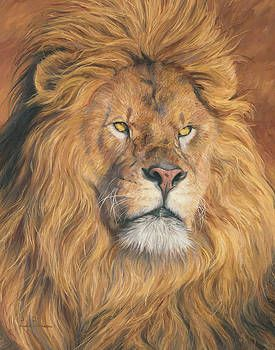 His Majesty Detail By Lucie Bilodeau Animal Paintings