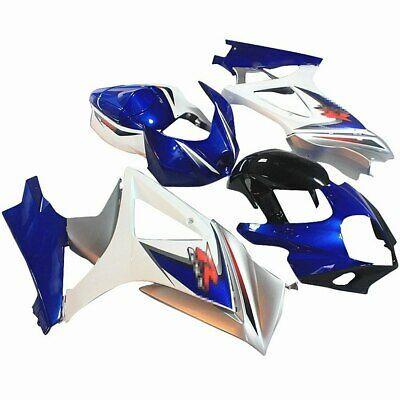 Advertisement Ebay Fairing Bodywork Set For Suzuki Gsxr1000 K7 2007 2008 Black White Blue Silver Blue And Silver Black And White Suzuki Gsxr1000