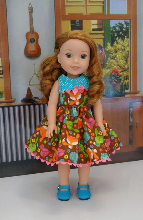 Orange Dress Shoes that fit Wellie Wisher Wishers Dolls