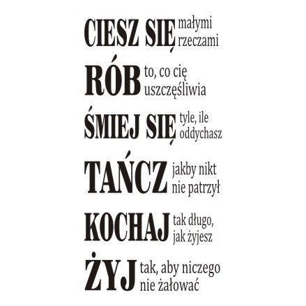 Napis Na Sciane Ciesz Sie Malymi Rzeczami 207 In 2021 True Quotes New Quotes Words