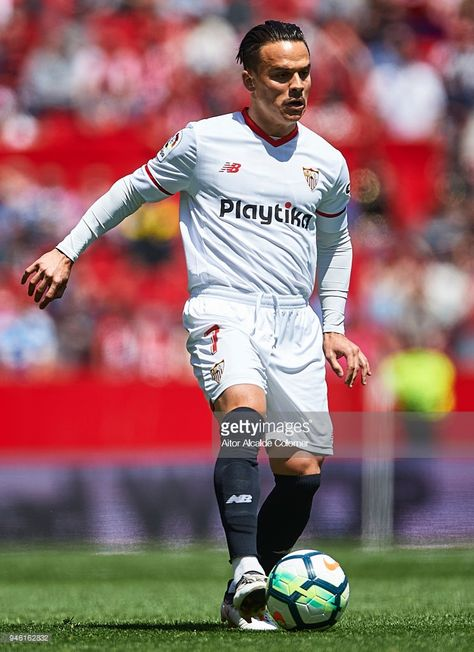 Roque Mesa of Sevilla FC in action during the La Liga match between...