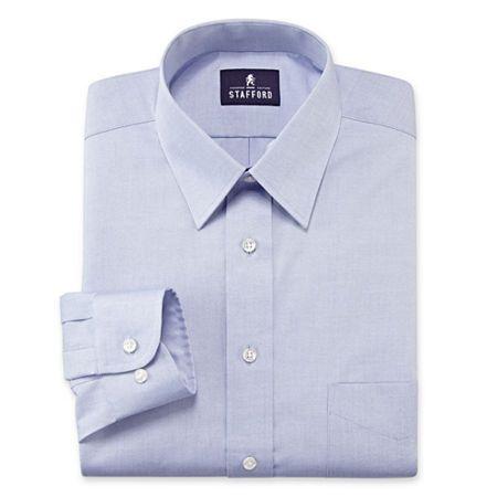 Big Mens Pinpoint Oxford Long Sleeve Shirt