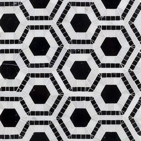 Ivy Hill Tile Kosmos Black And Asian Statuary Hexagon 11 3 4 In X 11 3 4 In X 10 Mm Polished Marble Mosaic Tile Ext3rd101179 Stone Mosaic Tile Mosaic Tiles Marble Mosaic