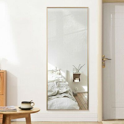 Full Length Floor Mirror Leaning Wall Mounted Frame Large Mirrors Bedroom Gold Fashion Home Garden Bedroom Mirror Large Bedroom Mirror Living Room Mirrors