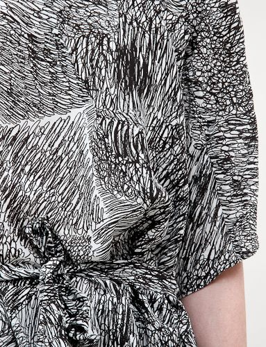 Get arty with the Scribble Print Dress - a bold, monochrome pattern