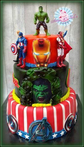 Amazing The Avengers Cake Cake By Sam Nels Taarten Avengers Funny Birthday Cards Online Drosicarndamsfinfo