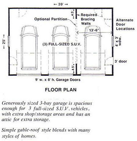 3 Car Attic Garage Plans By Behm Designs 975 1 39 X 25 In 2020 Garage Plans Roof Plan Garage Plan