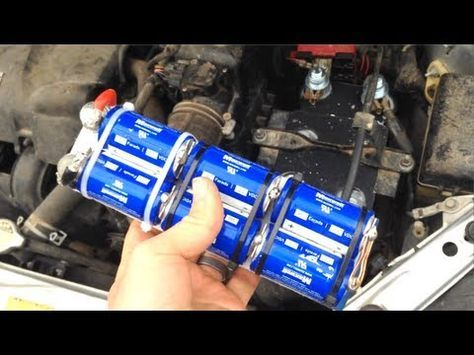 Replace Your Car Battery With Capacitors 12v Boostpack Update Youtube Car Battery Capacitors Repair