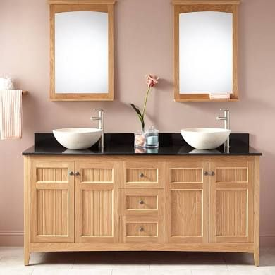 72 Alvelo Double Vessel Sinks Bathroom Vanity Oak Signature