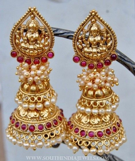 1a04877ac8 Imitation Pearl Jhumka From Orne Jewels | Jhumkas Collections ...