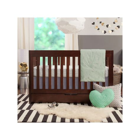 Babyletto Mercer 3 In 1 Convertible Crib Brown Wood Crib Cribs
