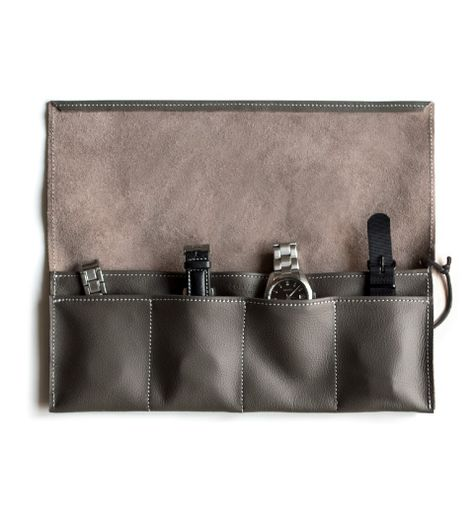 Leather Passport Case - Blue scrolls on khaki by VIDA VIDA sTwq0