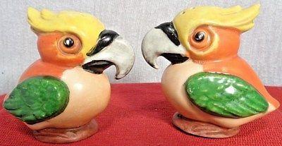 Fantastical Bird Salt And Pepper Shakers. Vintage Pre World War II fantasy Birds salt  pepper shakers Germany German