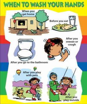 Healthy Habits Washing Hands Are Mandatory After Meal Play Market Visit And Even After Touching Pet Anima Hygiene Lessons Hand Washing Poster Hand Hygiene