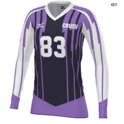 sports shoes b043c 67919 Mizuno Women's 440380 (Custom / Sublimated) Long Sleeve ...