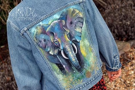 Jacket Painted Clothing Rights Vegan Denim Animal hsxrdtQC