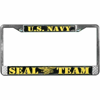Sponsored Ebay Us Navy Seal Team Metal License Plate Frame Officially Licensed In 2020 Us Navy Seals Navy Seals License Plate Frames