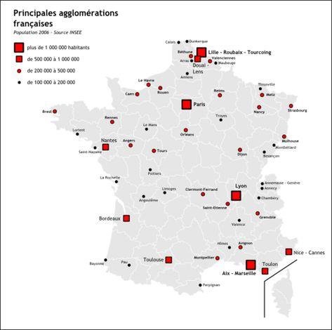 Carte Des Villes De France Carte De France Ville Carte De