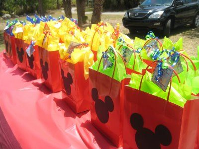 Mickey Mouse gift bags