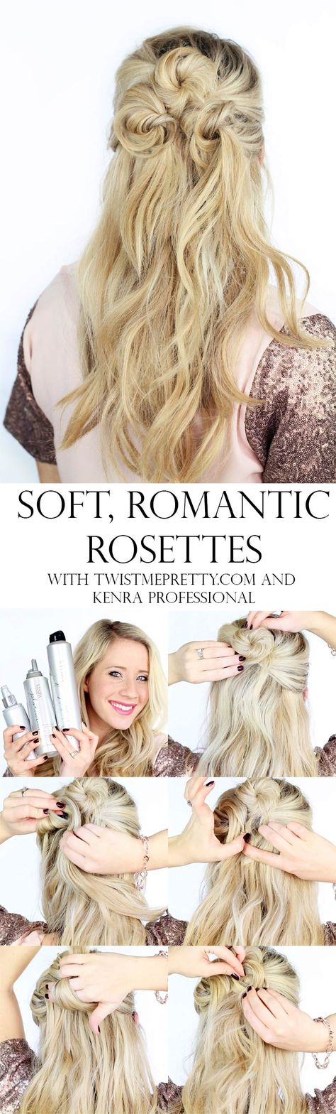 Soft, Romantic Rosettes with Kenra Professional, by Abby Smith of @twistmepretty