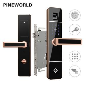 Pineworld Biometric Fingerprint Door Lock Intelligent Electronic Lock Fingerprint Verification With Password Fingerprint Door Lock Electronic Lock Door Locks