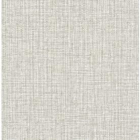 Nuwallpaper 30 75 Sq Ft Neutral Vinyl Textured Abstract 3d Self Adhesive Peel And Stick Wallpaper Lowes Com Grey Wallpaper Light Grey Rug Wall Coverings