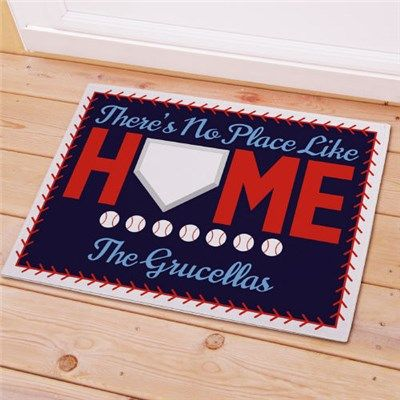 Personalized Baseball Welcome Doormat | Custom Baseball Welcome Mat