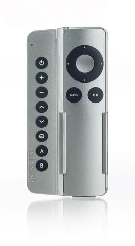 Certified Refurbished Sideclick Universal Remote Attachment For Apple Tv Gen 2 3 Silver With Images Apple Tv Remote Remotes
