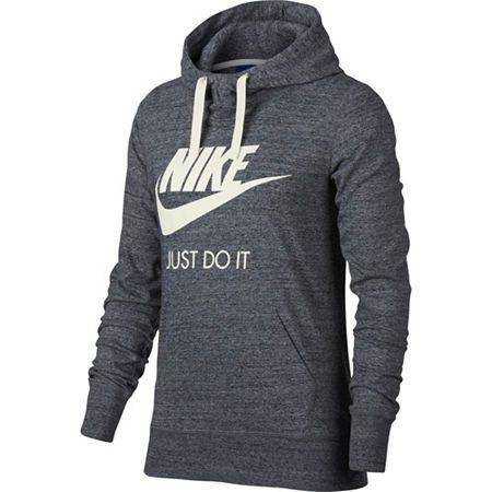 Nike Women S Gym Vintage Pullover Hoodie X Small Gray In 2020 Vintage Hoodies Nike Women Hoodies