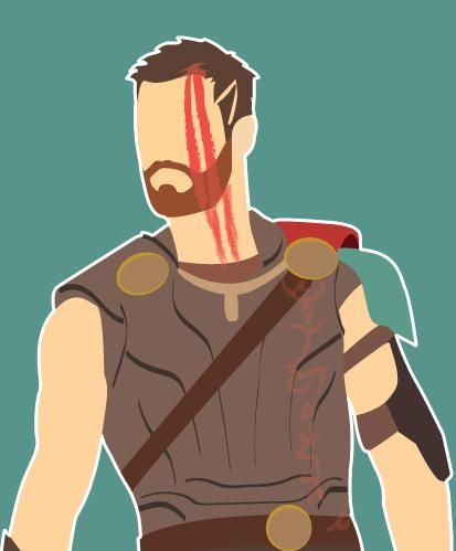 I wanted to do some Thor art before I watched Black Panther so I made this.