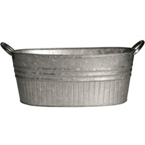 Robert Allen Mpt01646 Tapered Oval Tub With Handles Galvanized 24 Galvanized Tub Planter Galvanized Tub Galvanized