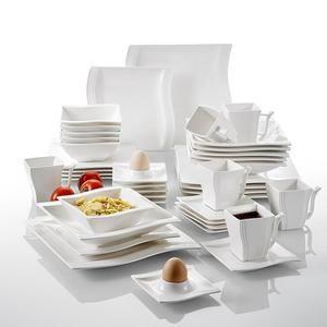table en porcelaine 42pcs vaisselle