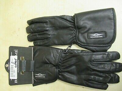 Ebay Advertisement Womens Lady Leather Motorcycle Gloves Roadkrome Alternator Black Large Leather Motorcycle Gloves