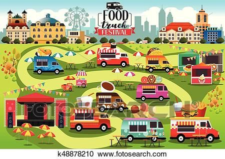 Food Trucks Festival Map Clipart Food Truck Festival Food Truck