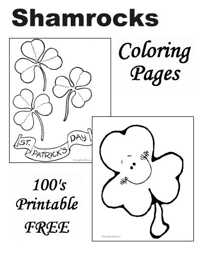 shamrock coloring pages and printable sheets and pictures st patricks day for kids pinterest classroom crafts crafts and punch needle - Shamrock Coloring Pages