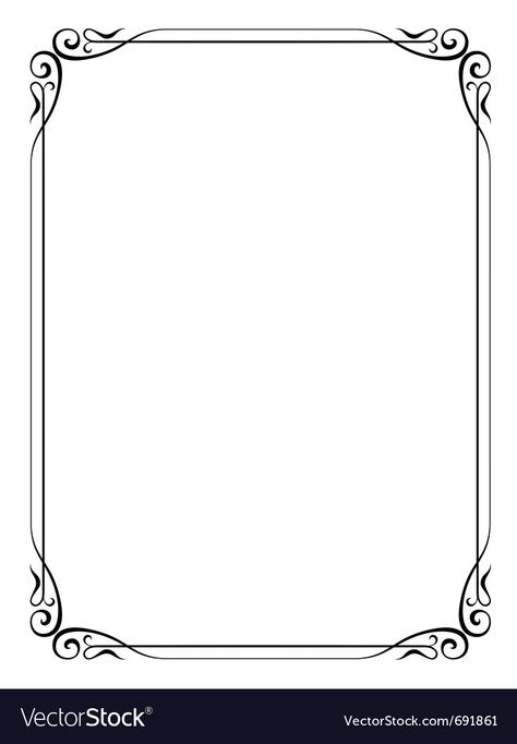 Simple ornamental decorative frame vector image on VectorStock
