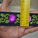 Seda Sari frontera con la India Recorte Por Las molduras y adornos de tela Yard, bordados, ajuste decorativo, ajuste del traje de la manera, la cinta del arte  Orquídea y diseñador de bordado...