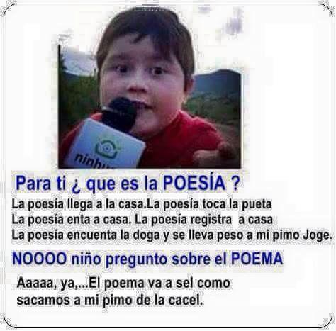 Poesia Poema Que Es Eso Poemas Graciosos Chistes Divertidos Chistes Humor